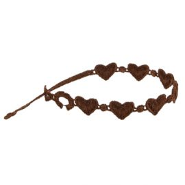 braccialetti Heart Brown