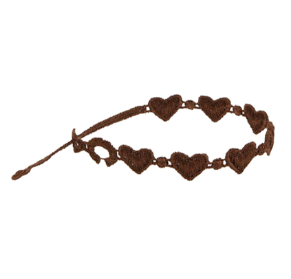 braccialetti Heart Brown