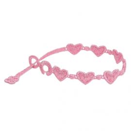 braccialetti Heart Pink