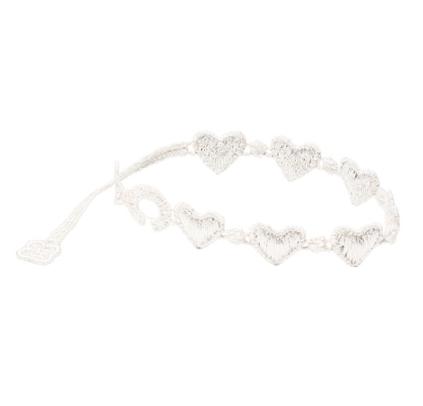 braccialetti Heart White