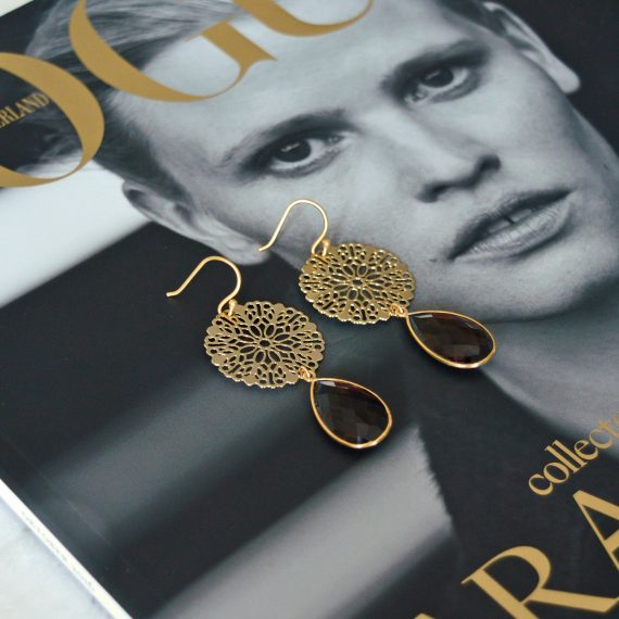 Earrings Filigree Brown