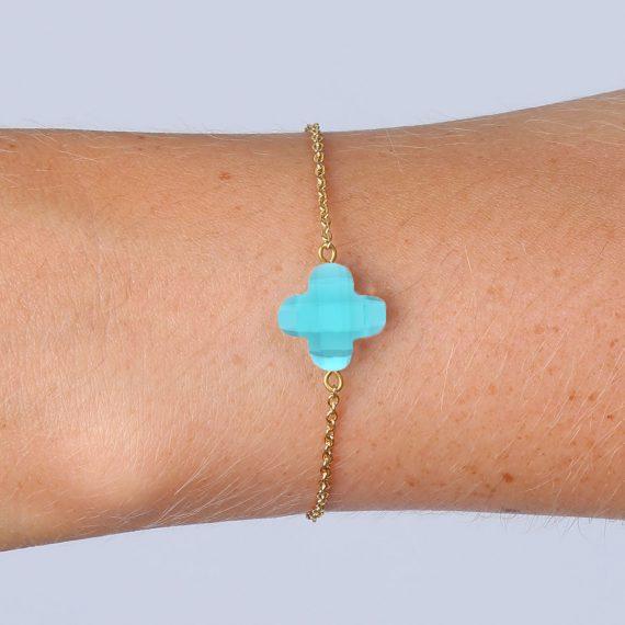 Lucky Bracelet Aqua Gold Model
