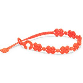 braccialetti Flower Neon Orange