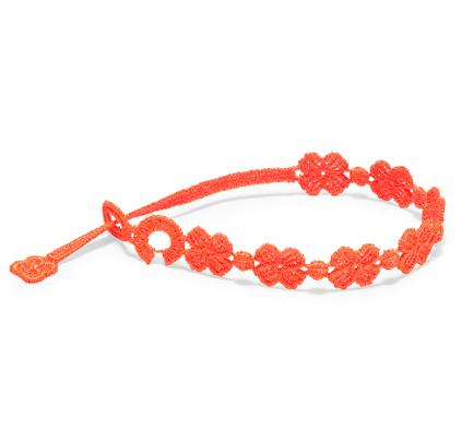 braccialetti Flower Neon Orange