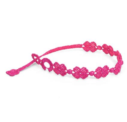 braccialetti Flower Neon Pink