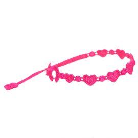 braccialetti Heart Neon Pink