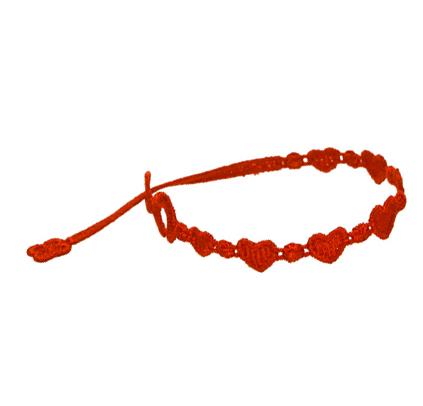 braccialetti Heart Red