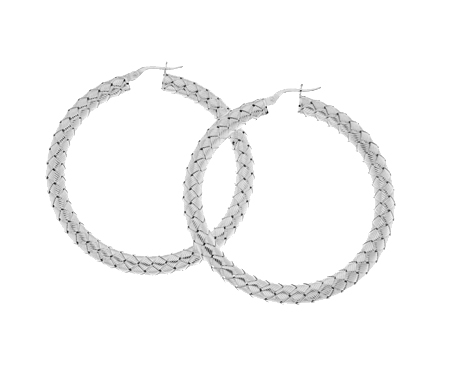 Oorbellen Ring Zilver