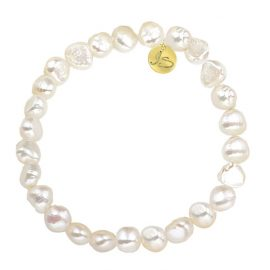 Zoetwaterparel armband Goud