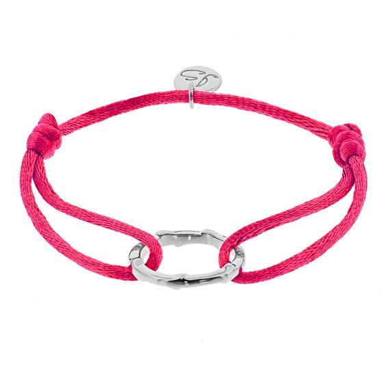Ring Fel roze Zilver