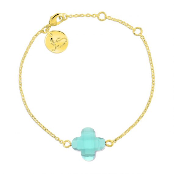 Lucky Bracelet Mint Opaal Gold