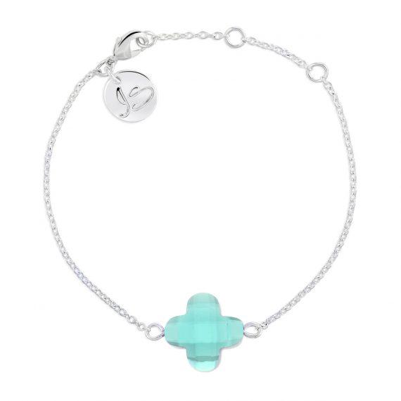 Lucky Bracelet Mint Opaal Silver