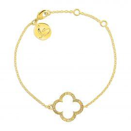Armband Klaver Gold