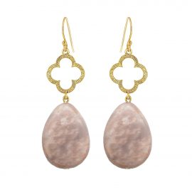 Clover Earrings Beige