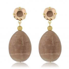 Earrings Crystal Rose Gold