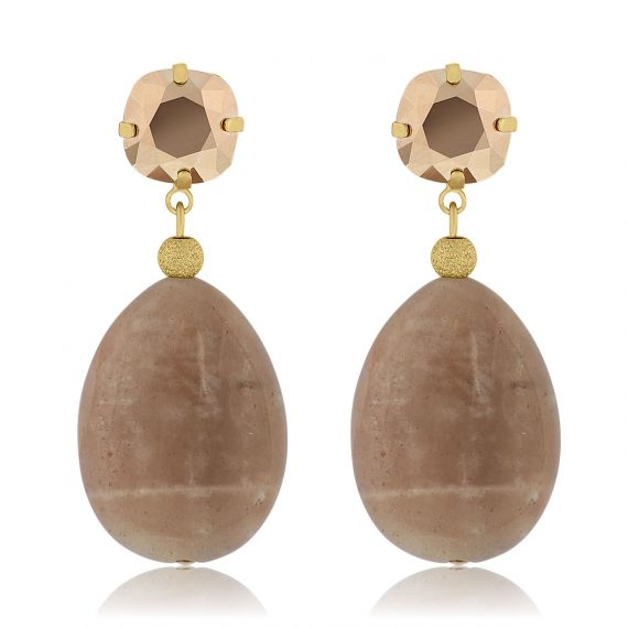 Earrings Crystal Rose Gold