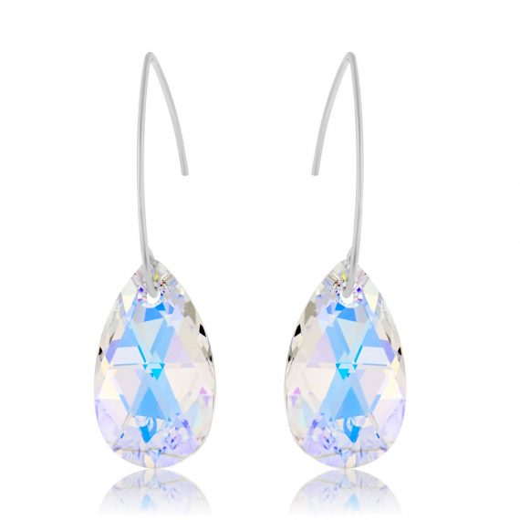 Earrings Glamour Crystal AB Silver