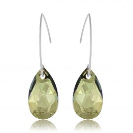 Earrings Glamour Iridescent Green Silver Licht