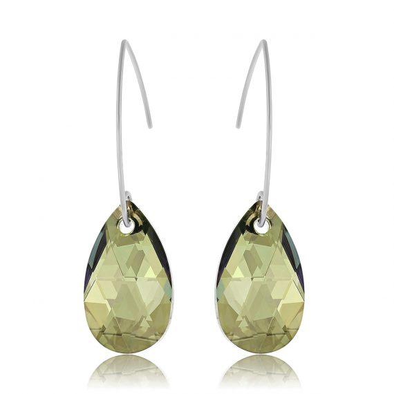 Earrings Glamour Iridescent Green Silver Licht