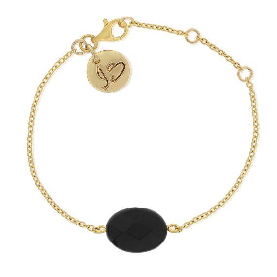 Gemstone Bracelet Black Gold