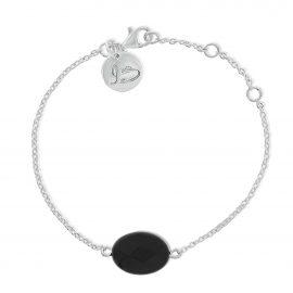 Gemstone Bracelet Black Silver