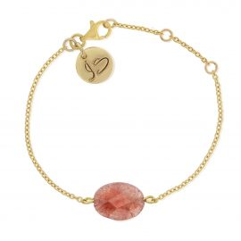 Gemstone Bracelet Pink Gold