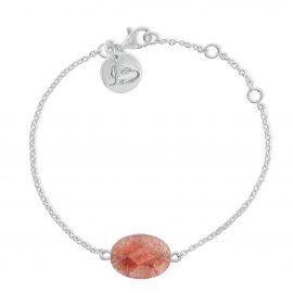 Gemstone Bracelet Pink Silver