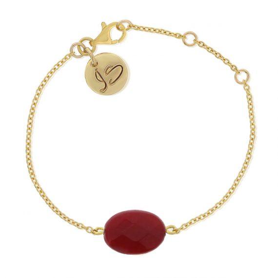 Gemstone Bracelet Red Gold