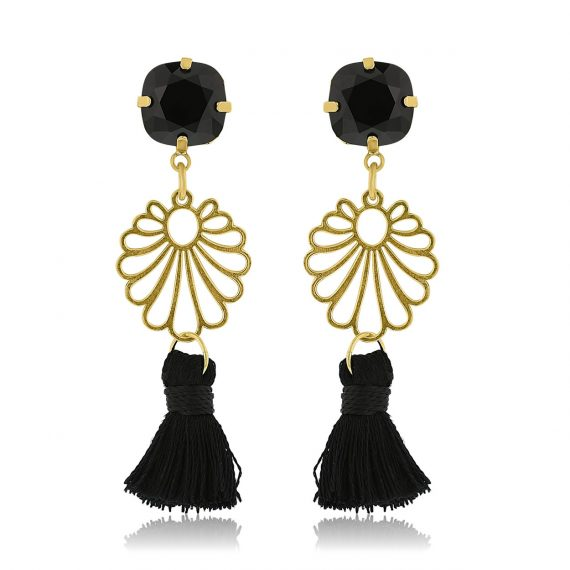 Ibiza Earrings Black