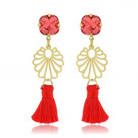 Ibiza Earrings Red