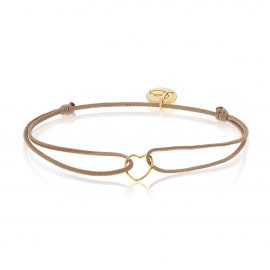 My Everyday Heart Bracelet Beige Gold