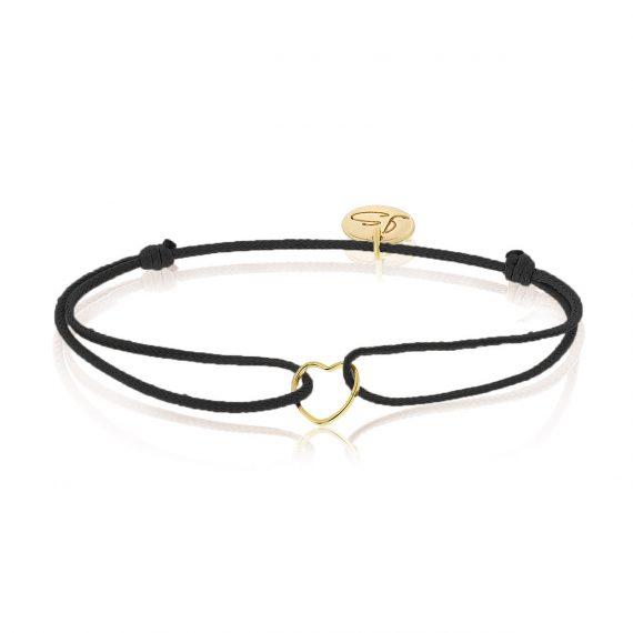 My Everyday Heart Bracelet Black Gold