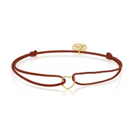 My Everyday Heart Bracelet Bordeaux Gold