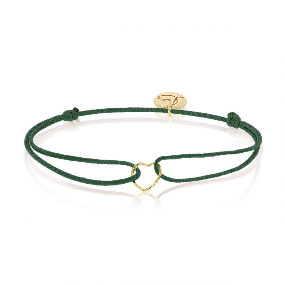 My Everyday Heart Bracelet Dark Green Gold
