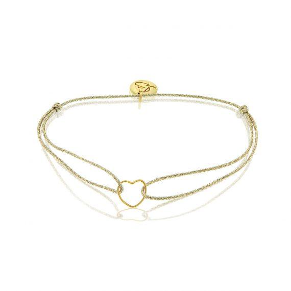 My Everyday Heart Bracelet Glitter Gold