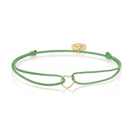 My Everyday Heart Bracelet Green Gold