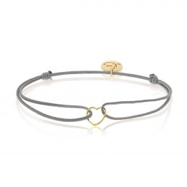 My Everyday Heart Bracelet Grey Gold