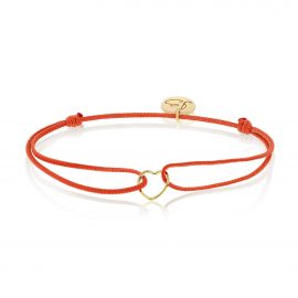 My Everyday Heart Bracelet Red Gold