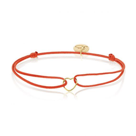 My Everyday Heart Bracelet Red Gold