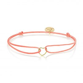 My Everyday Heart Bracelet Salmon Gold