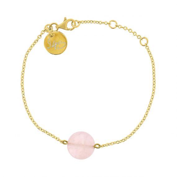 Round gemstone Bracelet Pink Gold