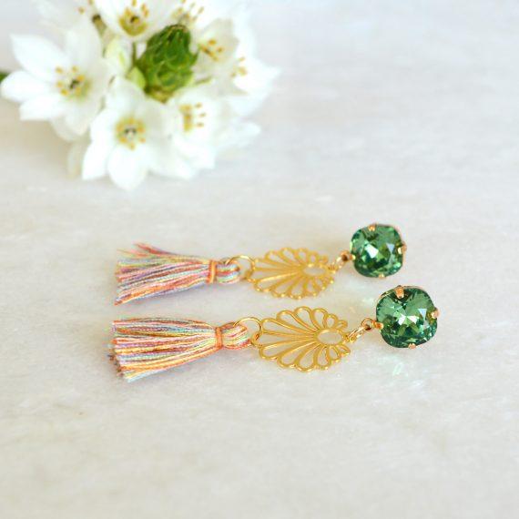 Ibiza Earrings Green