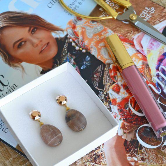 Earrings Crystral Rose Gold Still
