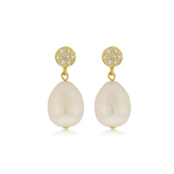 Earrings Queen Pearls Gold