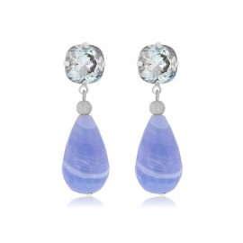 Earrings Sparkling Blue Silver