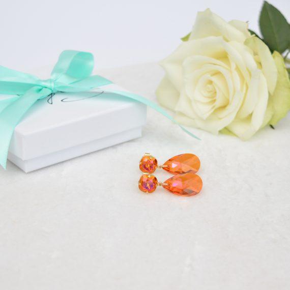 Still Double Glamour Earrings Orange