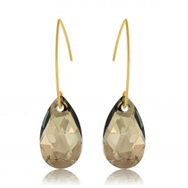 Earrings Glamour Iridescent Green Gold