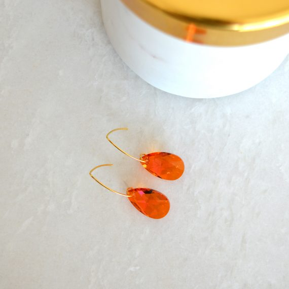 Earrings Glamour Orange Still
