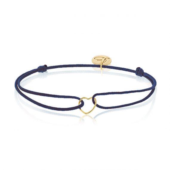 My Everyday Heart Bracelet Navy Gold