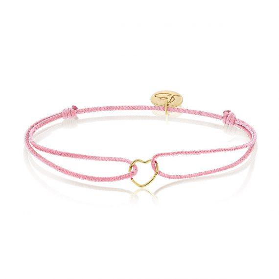 My Everyday Heart Bracelet Pink Gold